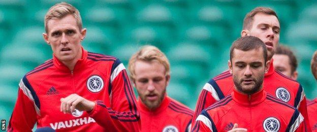 Scotland players Darren Fletcher and Shaun Maloney