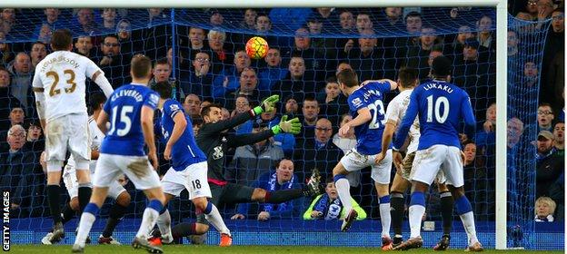 Seamus Coleman misses from yards out with the last kick of the game