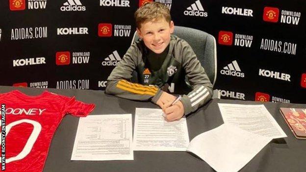 Wayne Rooney's son Kai