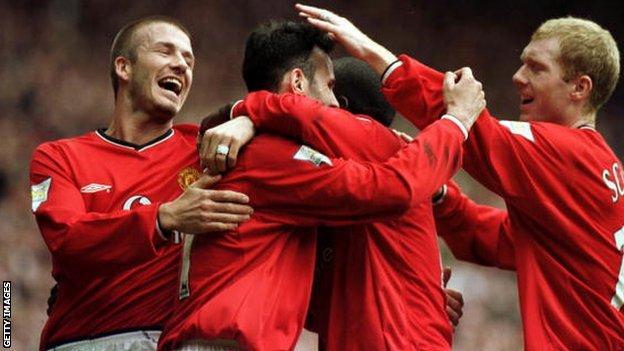 David Beckham, Ryan Giggs and Paul Scholes