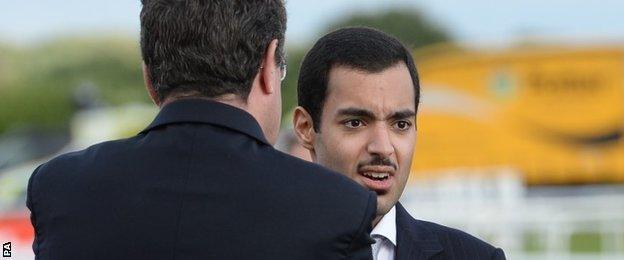 Sheikh Fahad al Thani at Doncaster