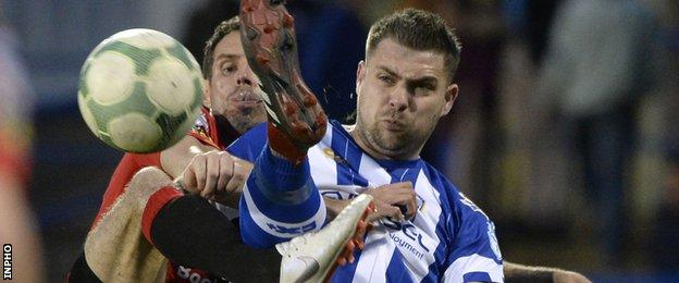 Irish Cup finalists Crusaders lost 4-2 away to Coleraine