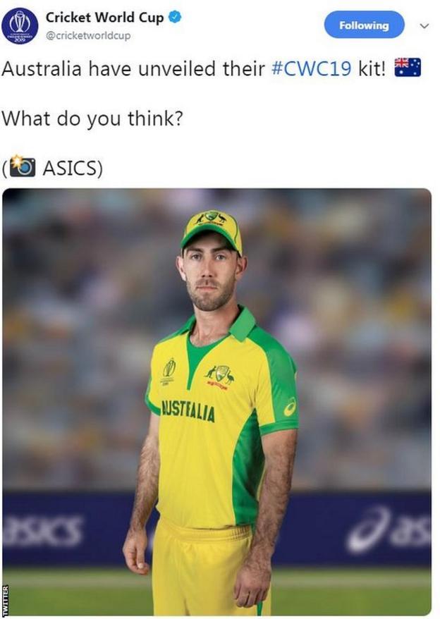 Australia's World Cup kit