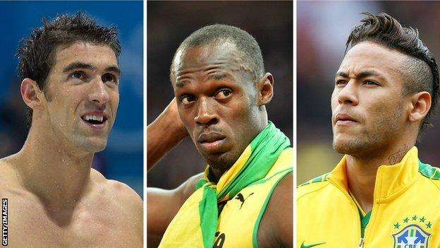 Michael Phelps, Usain Bolt and Neymar will be among the stars in Rio
