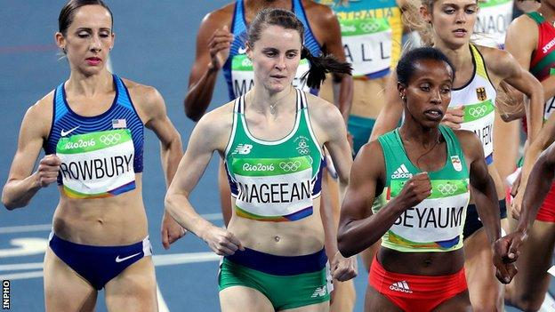 Ciara Mageean in action in her Olympic 1500m semi-final in 2016