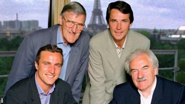 Jimmy Hill (top left)