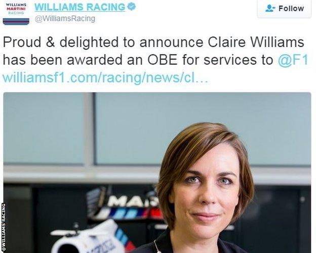 Williams Racing twitter