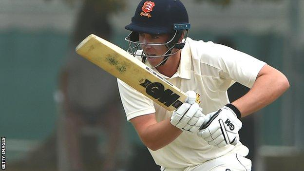 Essex batsman Dan Lawrence in action for MCC