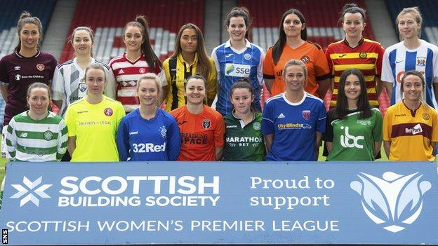 Plays from the SWPL teams line-up at Hampden