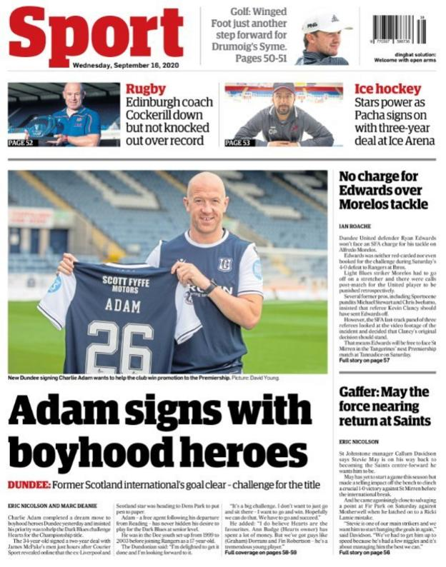 Dundee Courier back page