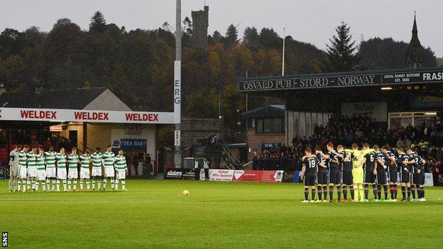 Celtic and Ross County players