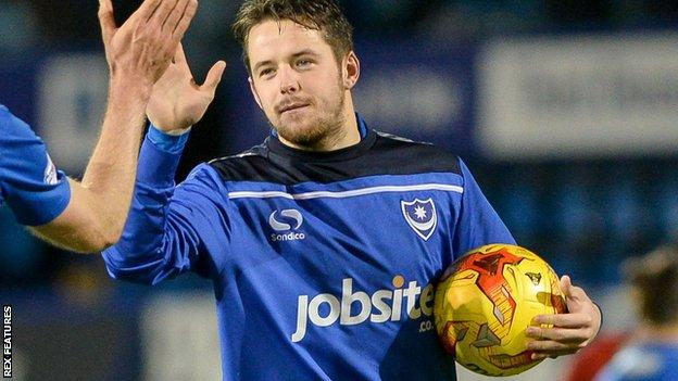 Marc McNulty receives the match ball for his hat-trick against York