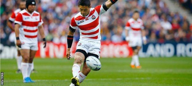 Japan full-back Ayumu Goromaru