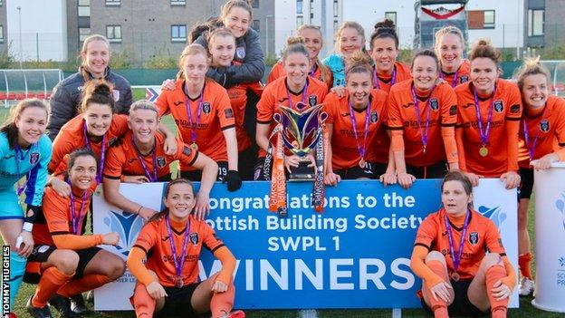 Glasgow City winning their 11th league title in 2017