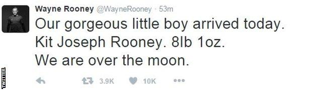 Wayne Rooney on Twitter