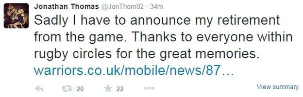 Jonathan Thomas on Twitter