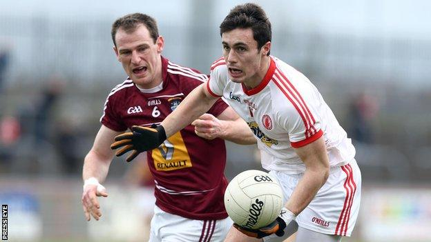 Shay McGuigan in action against Westmeath in the 2014 Football League