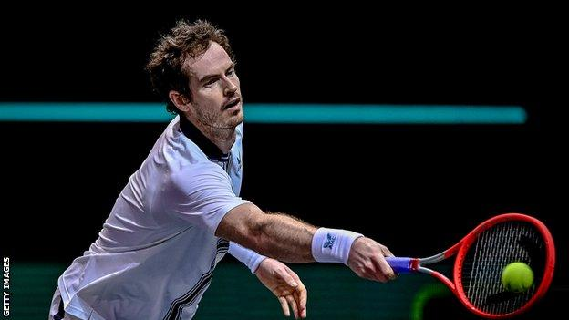 Andy Murray at the Rotterdam Open