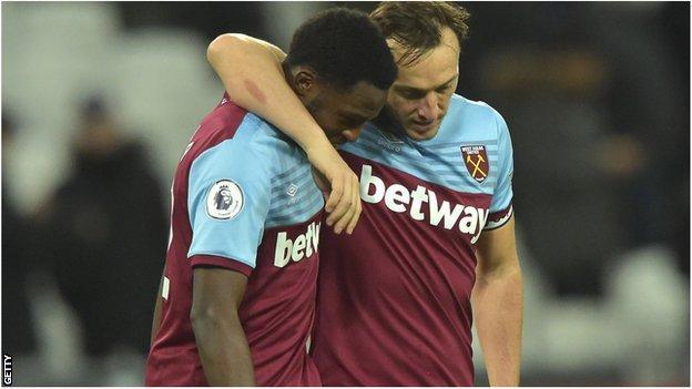 Mark Noble and West Ham team-mate Jeremy Ngakia