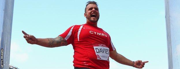 Aled Davies, discus thrower