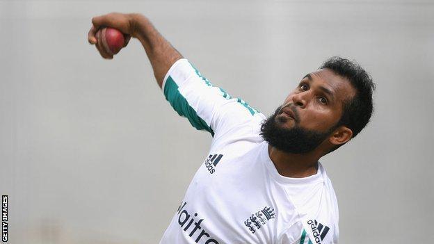 England bowler Adil Rashid
