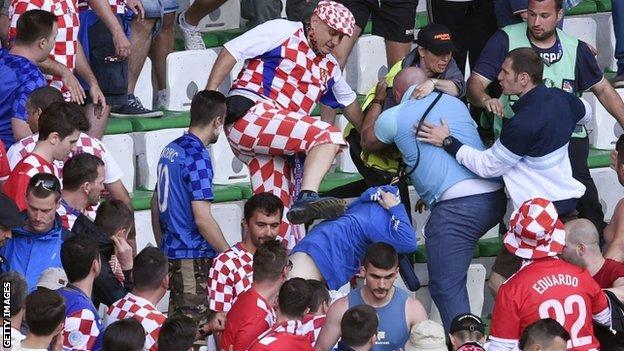 Croatia fan trouble