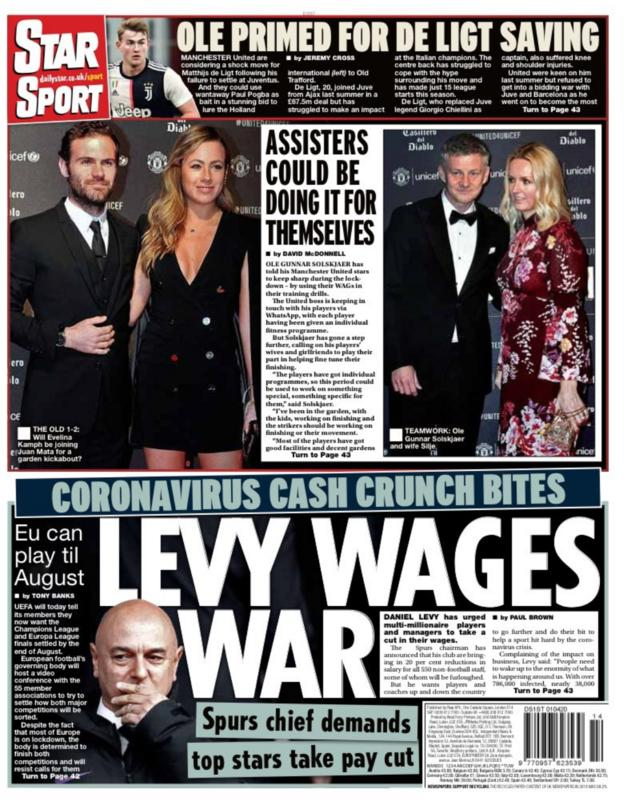 Star back page for Wednesday, 1 April 2020