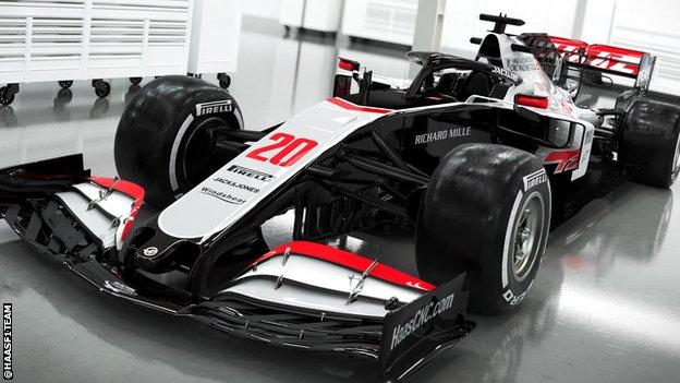 The Haas VF-20 2020 car