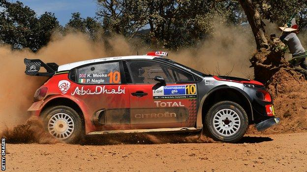 Kris Meeke won in Mexico last year after late drama