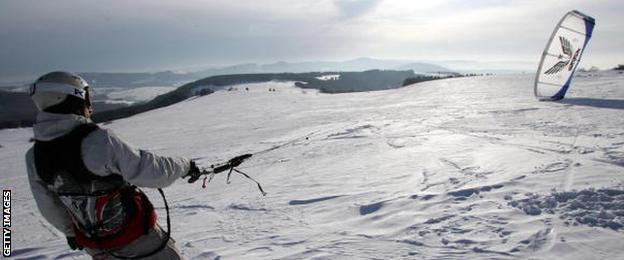 Snow kiting