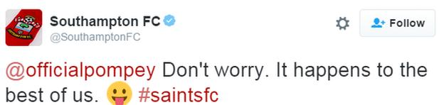 Southampton tweet