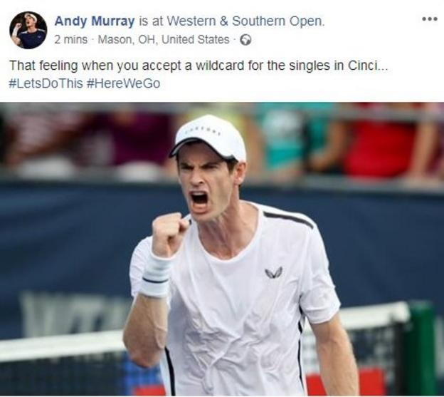 Andy Murray will return to singles at the Cincinnati Masters