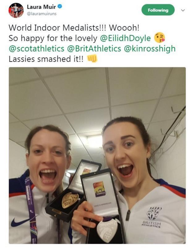 Laura Muir and Eilidh Doyle