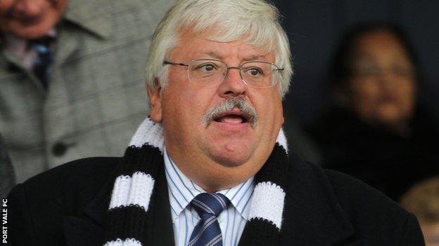 Port Vale chairman Norman Smurthwaite