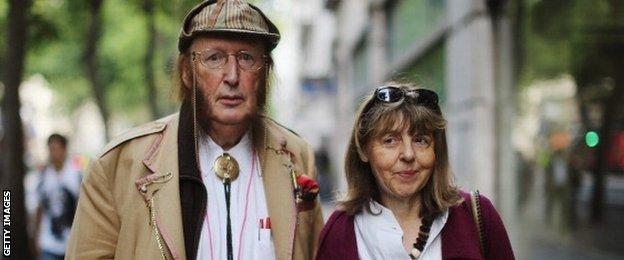 John McCririck and his wife Jenny
