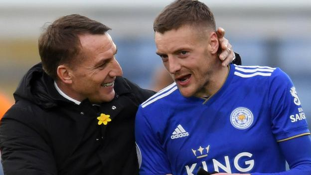 Brendan Rodgers: Leicester manager shows Jamie Vardy is central to the club's plans thumbnail