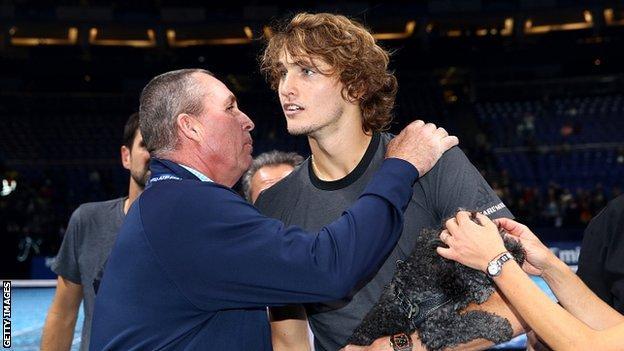 Ivan Lendl congratulates Zverev