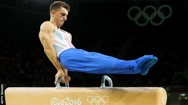 Max Whitlock in action during Rio 2016