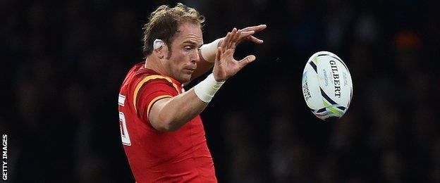 Alun Wyn Jones made his Wales debut against Argentina in 2006