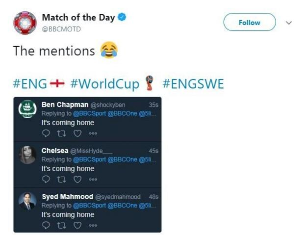 Match of the Day twitter account