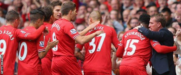 Liverpool fell two points short of the title in season 2013-2014