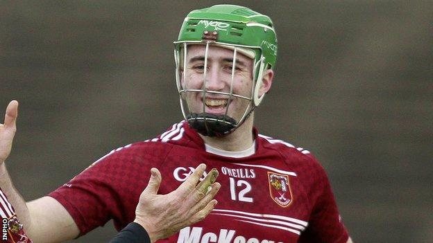 Sean McAfee scored Cushendall's first-half goal at the Athletic Grounds