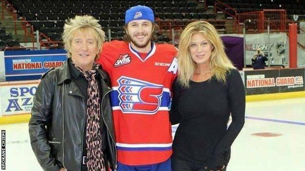 Liam Stewart is watched at matches by both his father Rod and his mother, Rachel Hunter