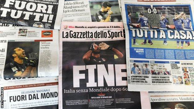 Italian daily newspapers