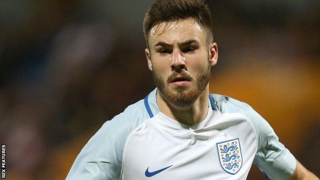 Ben Brereton playing for England U19s