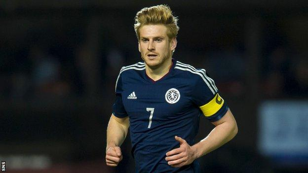 Stuart Armstrong was a key figure for Scotland Under-21s