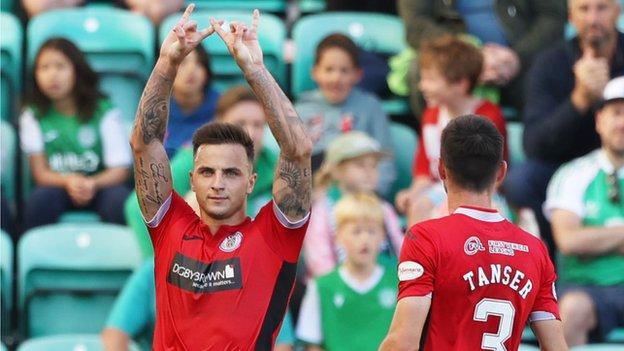 Eamonn Brophy celebrates his goal