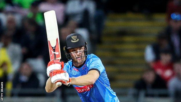 Evans hit seven half-centuries in the T20 Blast last summer