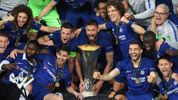 Chelsea beat Arsenal 4-1 to win Europa League final - BBC Sport