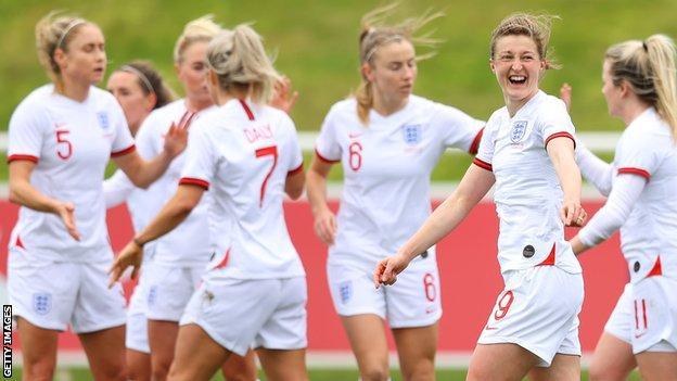 England player celebrate against Northern Ireland